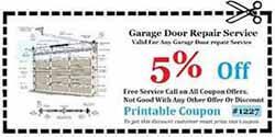 Garage Door Repair Orange County CA Coupon