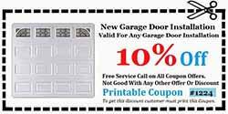 New Garage Door Installation Orange County CA Coupon