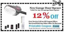 Garage Door Opener Repair Coupon